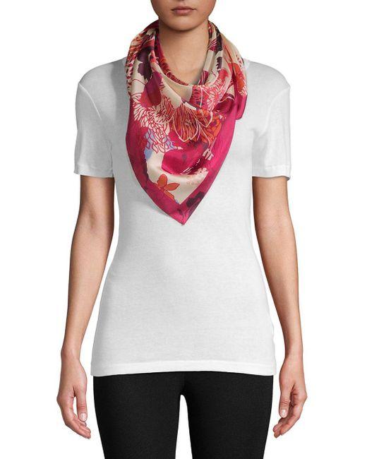 Vince Camuto - Multicolor Floral Silk Scarf - Lyst