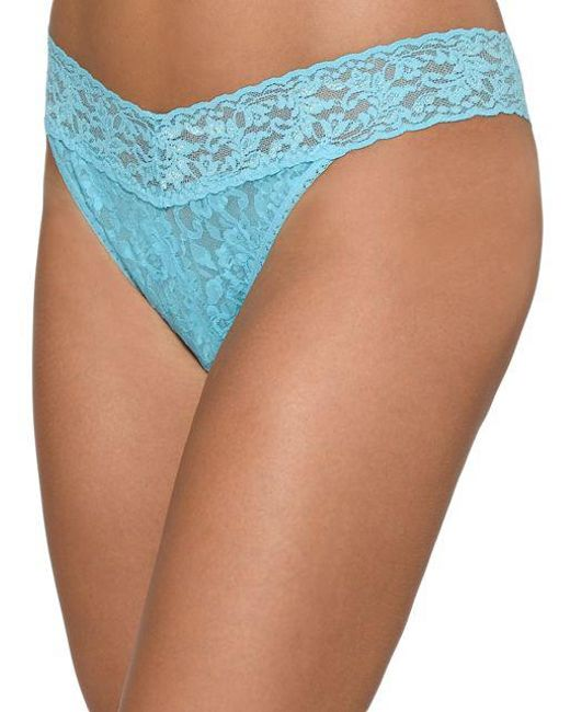 Hanky Panky - Blue Original Rise Lace Thong - Lyst