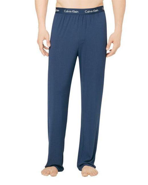 CALVIN KLEIN 205W39NYC - Blue Logo Lounge Pants for Men - Lyst