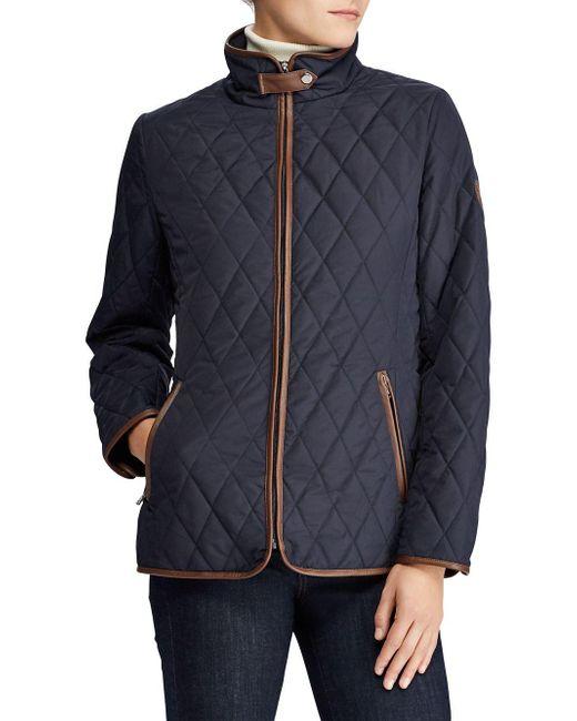 Lauren by Ralph Lauren - Blue Lightweight Quilted Coat for Men - Lyst