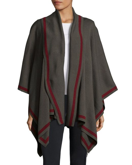 Lord & Taylor - Green Shawl Collar Cape - Lyst