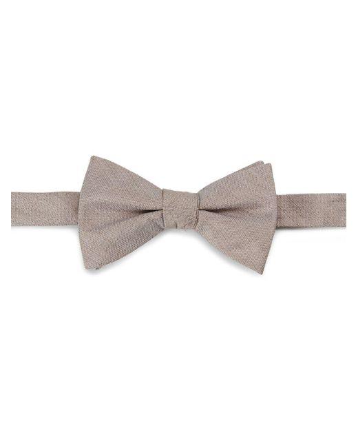 Cole Haan - Brown Silk-linen Bow Tie for Men - Lyst