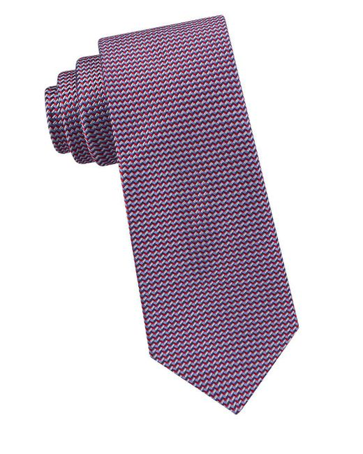 Ted Baker - Red Zigzag Neat Silk Tie for Men - Lyst