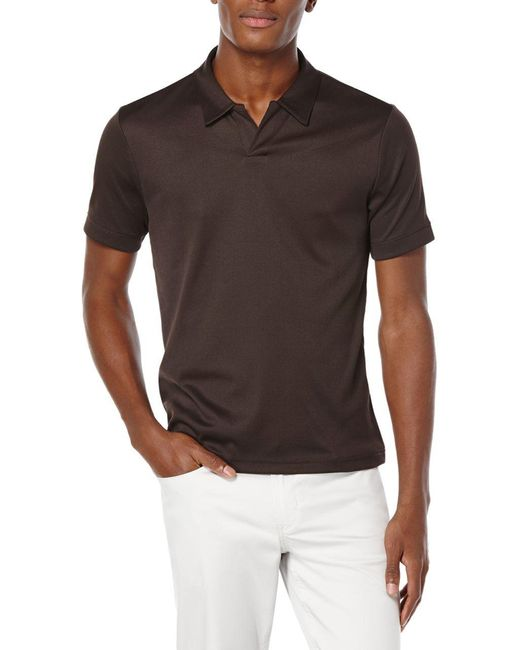 Perry Ellis - Brown Big And Tall Open Placket Polo for Men - Lyst