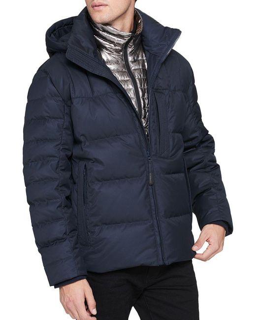 Andrew Marc - Blue Breuil Puffer Jacket for Men - Lyst
