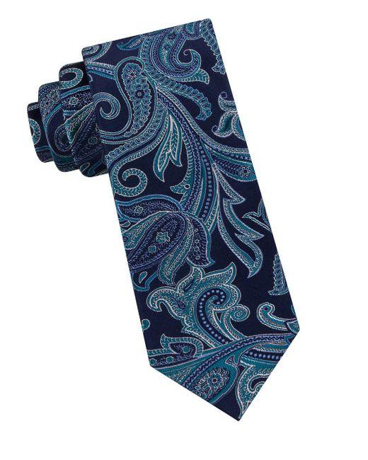 Ted Baker - Blue Silk Paisley Tie for Men - Lyst