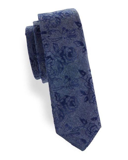 Original Penguin - Blue Polke Floral Cotton Tie for Men - Lyst