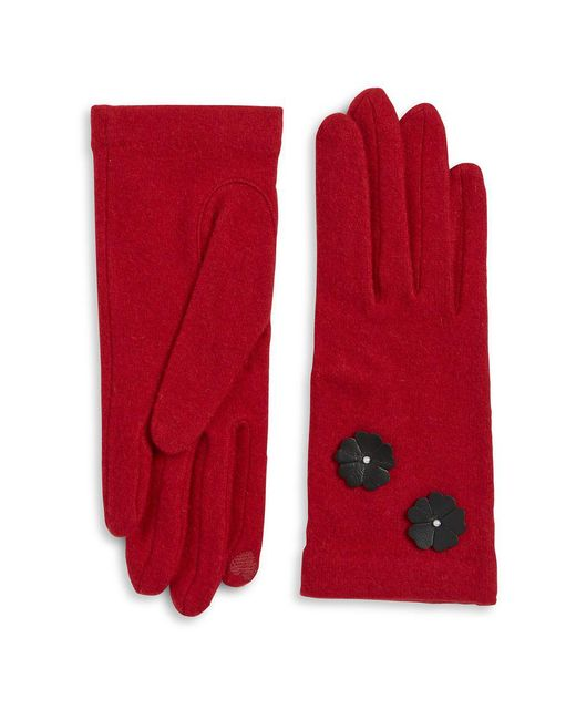 Portolano - Red Tech Compatible Gloves - Lyst