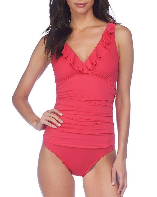 Lauren by Ralph Lauren | Multicolor Beach Club Ruffle One-piece Swimsuit | Lyst
