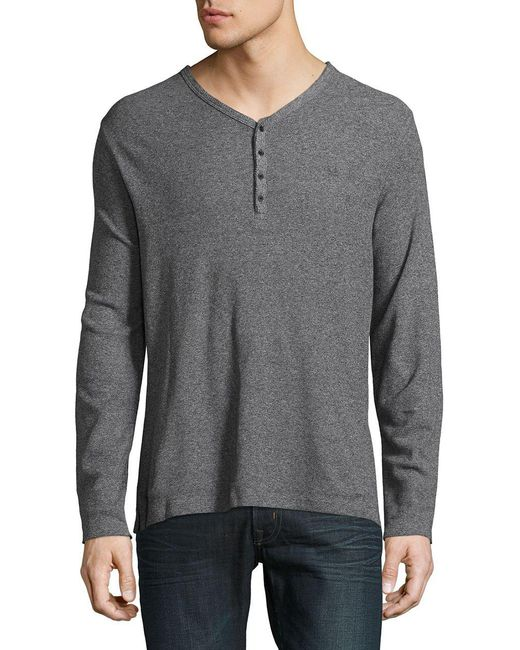 Calvin Klein Jeans - Gray Urban V-neck Henley for Men - Lyst
