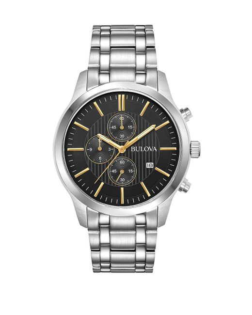 Bulova - Metallic Stainless Steel Chronograph Watch - Lyst
