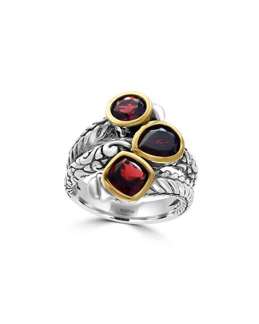 Effy - Metallic 18k Yellow Gold, Semi-precious Gemstone, And Sterling Silver Ring - Lyst
