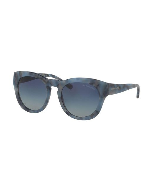 Michael Kors - Blue 50mm Summer Breeze Round Sunglasses - Lyst