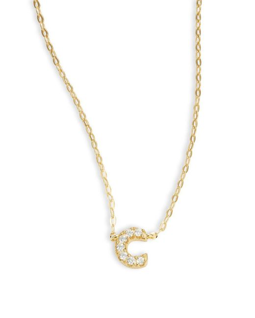 Nadri - Metallic Sterling Silver Initial Necklace - Lyst