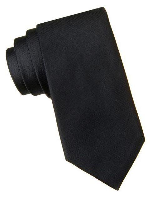 CALVIN KLEIN 205W39NYC - Black Slim Fit King Cord Ii Silk Tie for Men - Lyst