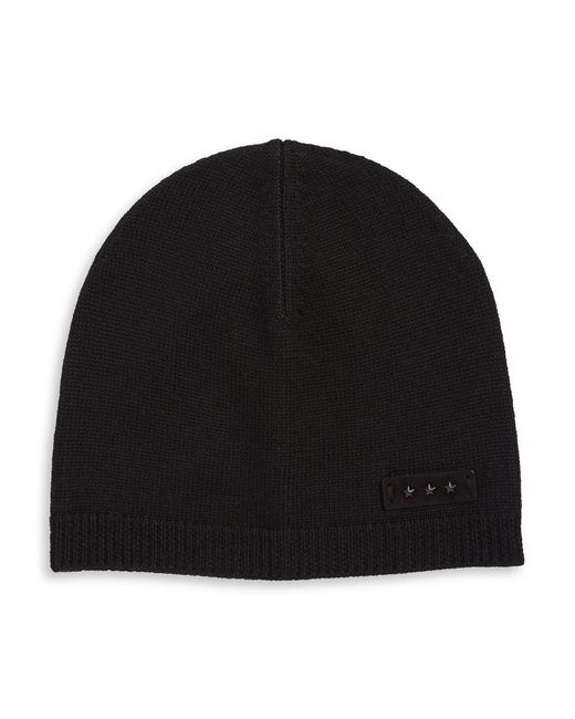 John Varvatos | Black Ribbed Merino Wool Beanie for Men | Lyst