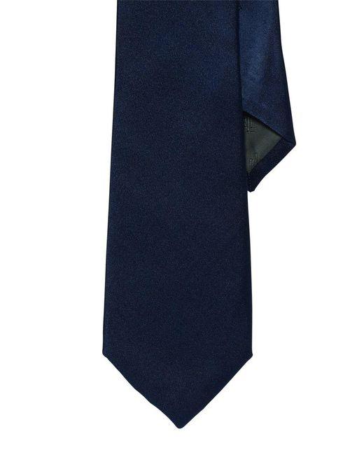Lauren by Ralph Lauren - Blue Solid Silk Tie for Men - Lyst