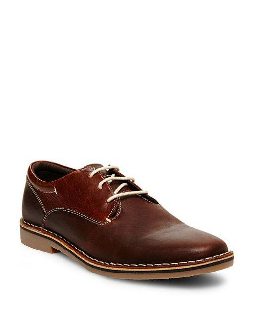 Steve Madden - Brown Leather Oxfords for Men - Lyst