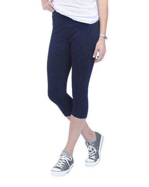 Lyssé - Blue Plus Perfect Denim Capri Pants - Lyst