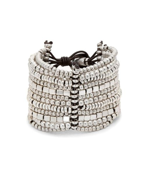 Uno De 50 - Metallic Bead Layered Bracelet - Lyst