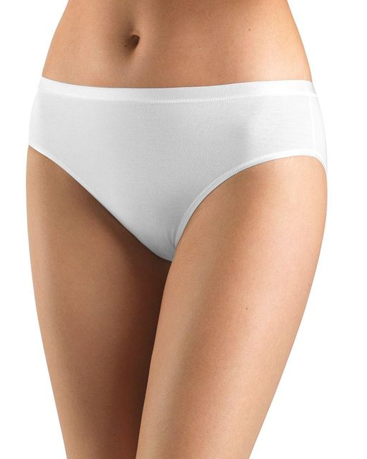Hanro - White Soft Touch High-cut Brief - Lyst