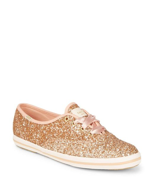 Keds - Pink Glittered Sneakers - Lyst
