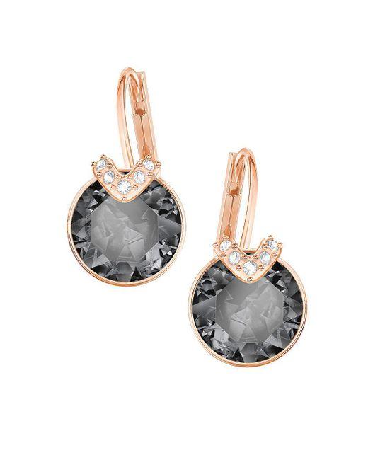 Swarovski Metallic Bella Rose-goldplated V Drop Earrings