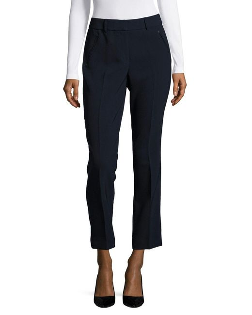 Karl Lagerfeld | Blue Cropped Straight Leg Pants | Lyst
