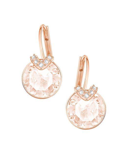 Swarovski - Metallic Bella Crystal Hoop Earrings - Lyst