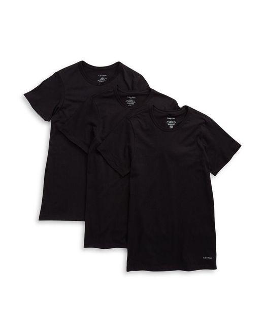 CALVIN KLEIN 205W39NYC - Black 3-pack Slim Fit Crewneck T-shirts for Men - Lyst