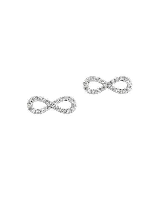 Effy - Metallic Novelty Diamond And White Gold Earrings - Lyst