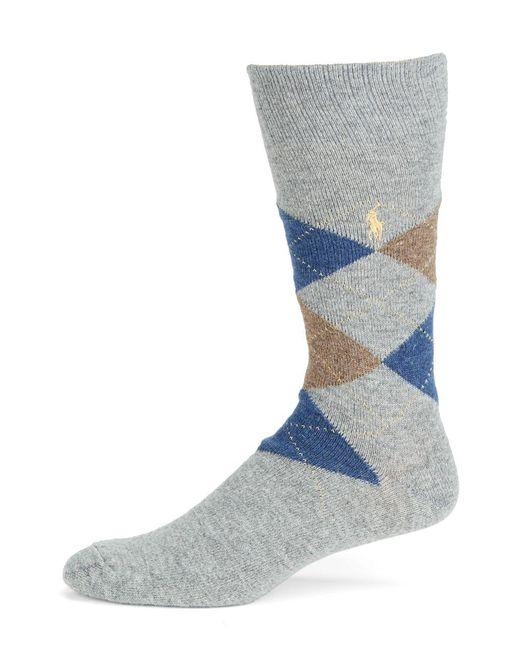 Polo Ralph Lauren - Gray Argyle Casual Socks for Men - Lyst