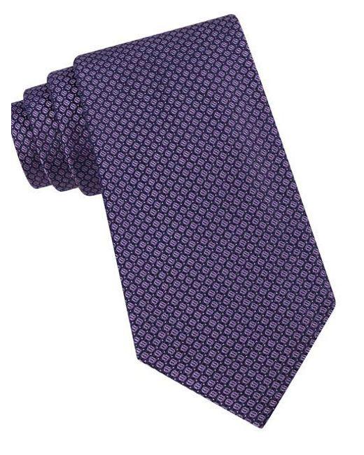 Calvin Klein - Purple Classic Fit Micro Dot Textured Silk Tie for Men - Lyst