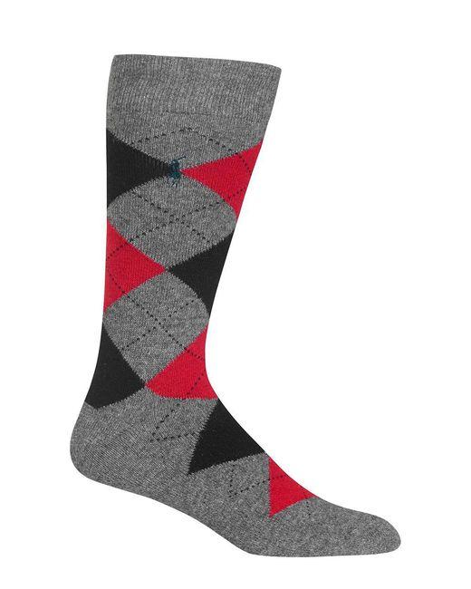 Polo Ralph Lauren - Gray Cashmere-blend Mid-calf Socks for Men - Lyst