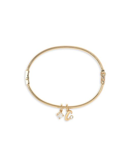 Vince Camuto - Metallic Goldtone And Crystal Initial Bracelet - Lyst