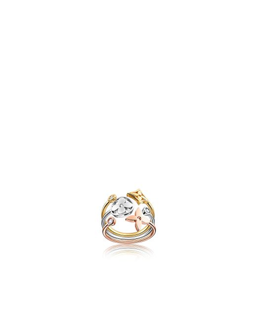 Louis Vuitton | Metallic Idylle Blossom Ring, 3 Golds And Diamonds | Lyst