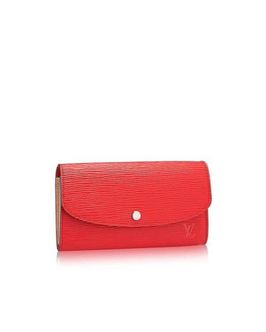 Louis Vuitton | Red Emilie Wallet | Lyst