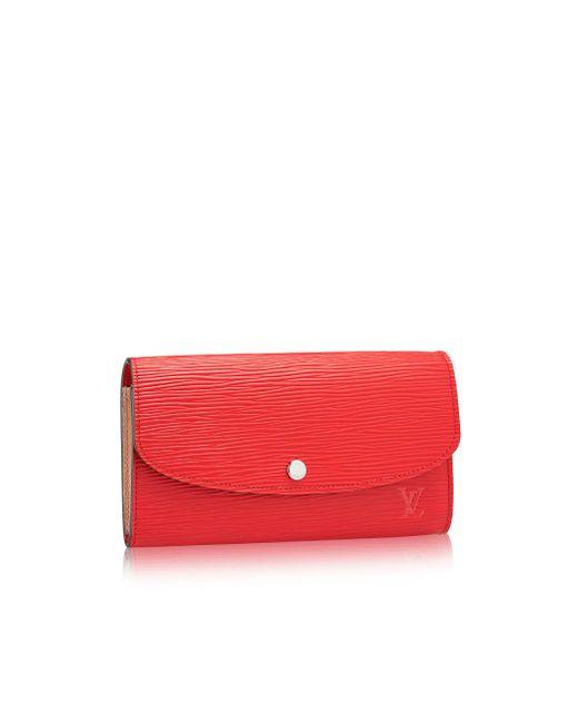 Louis Vuitton | Red Emilie Wallet | Lyst