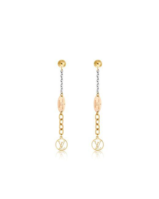 Louis Vuitton | Metallic Logomania Earrings | Lyst