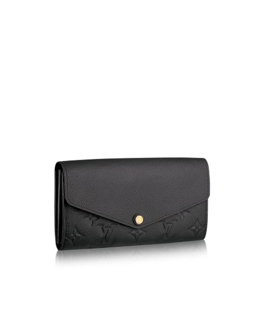 Louis Vuitton | Black Sarah Wallet | Lyst
