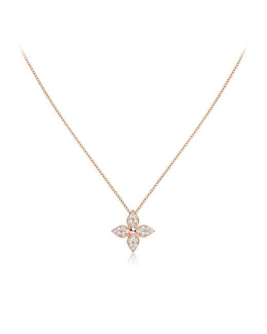 Louis Vuitton   Diamond Blossom Pendant, Pink Gold And Diamonds   Lyst