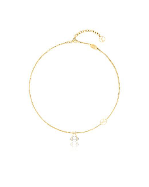 Louis Vuitton | Metallic Lv Speedy Pearls Necklace | Lyst