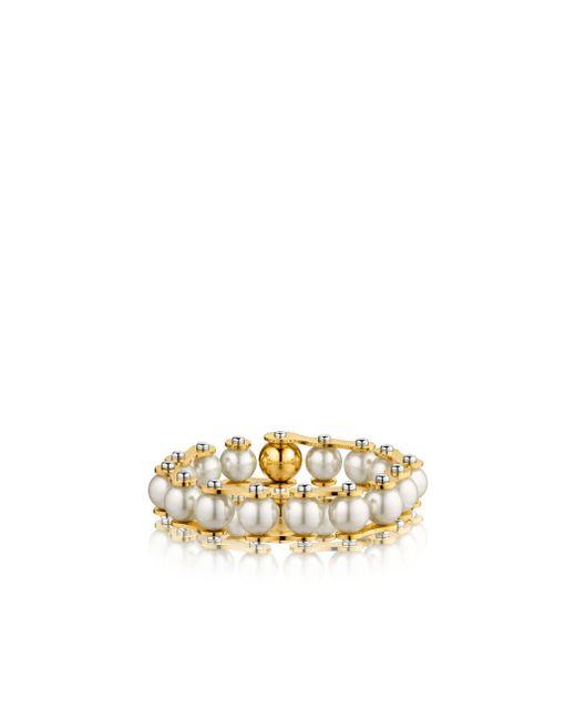 Louis Vuitton   Metallic Lv Speedy Pearls One-rank Bracelet   Lyst