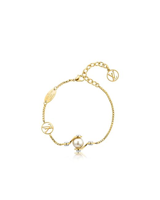 Louis Vuitton | Metallic Lv Speedy Pearls Bracelet | Lyst