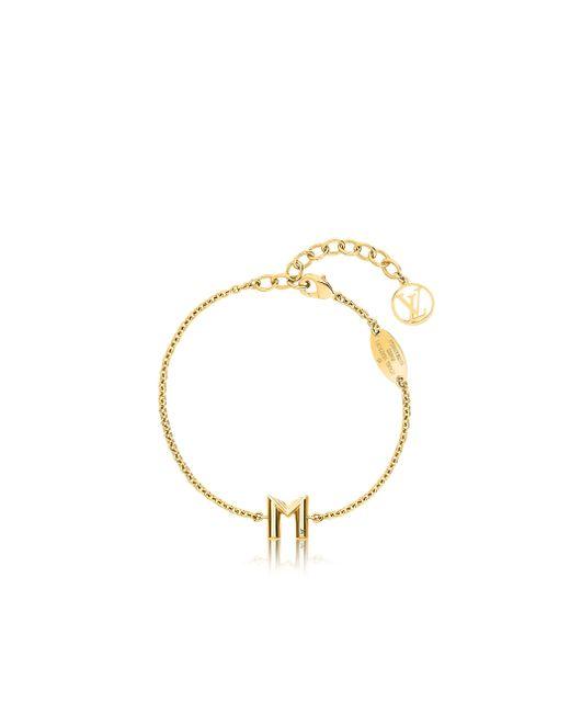 Louis Vuitton | Metallic Lv & Me Bracelet, Letter M | Lyst