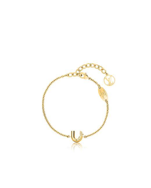 Louis Vuitton | Metallic Lv & Me Bracelet, Letter U | Lyst