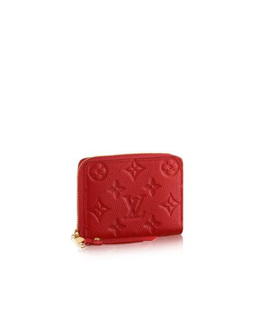 Louis Vuitton | Red Zippy Coin Purse | Lyst