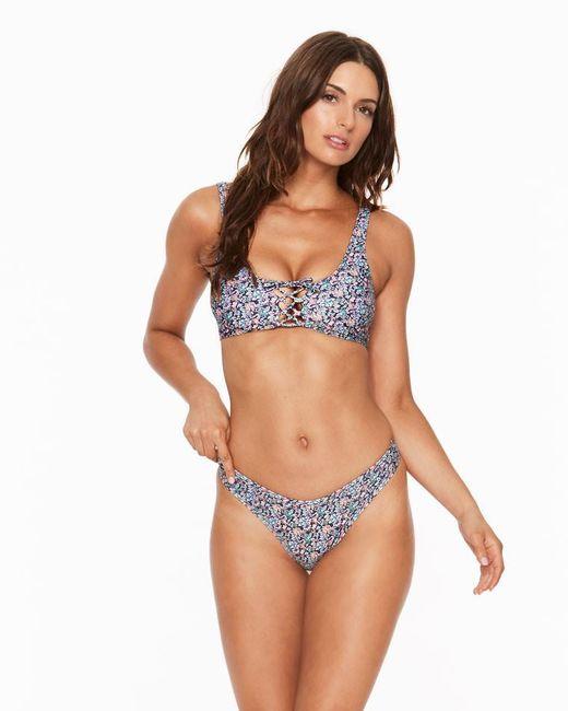 L*Space - Blue Liberty J'adore Romi Bikini Top - Lyst