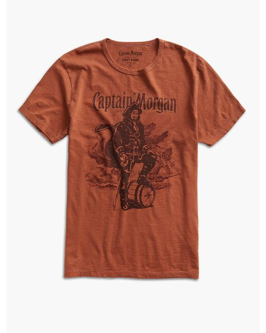 Lucky Brand - Orange Captain Morgan Rum for Men - Lyst
