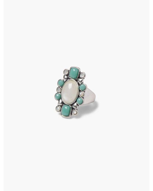 Lucky Brand - Metallic Set Stone Ring - Lyst